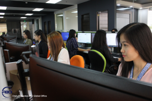 accountants of outsourcing company during work hours
