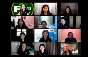 PBO Global outsourcing staff in a virtual meeting